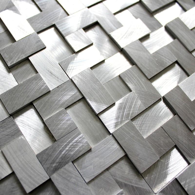 Dalle mosaique aluminium carrelage cuisine cr dence konik for Mosaique carrelage