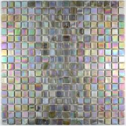 carrelage douche mosaïque douche pâte de verre rainbow perle