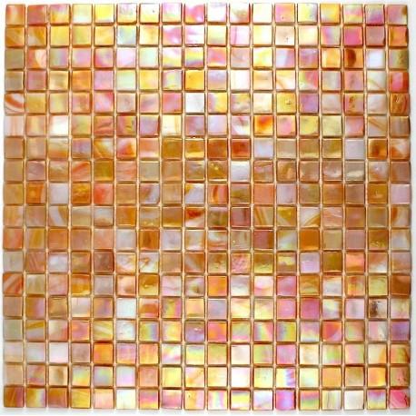 Carrelage douche cr dence cuisine carrelage salle de bain rainbow corail for Carrelage mosaique pate de verre