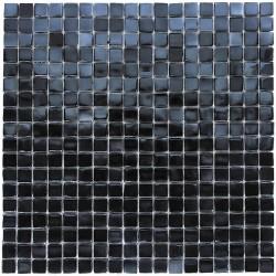 Glass mosaic kitchen backsplash bathroom Imperial Noir