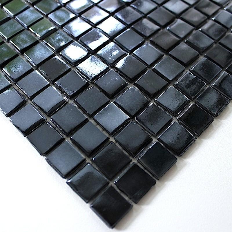 mosaique en pate de verre rainbow carbone carrelage inox fr