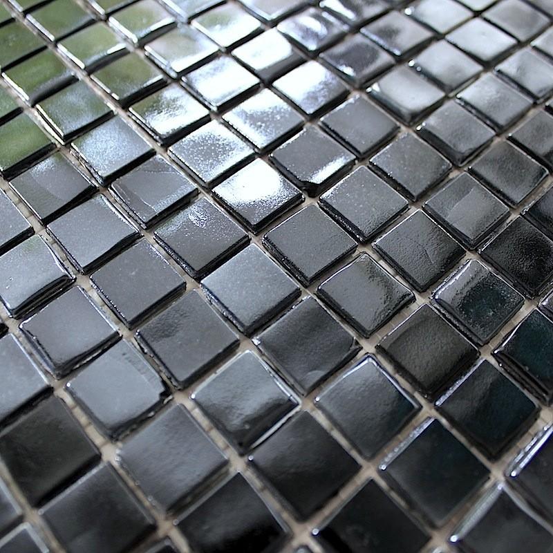 mosaique en pate de verre rainbow carbone carrelage. Black Bedroom Furniture Sets. Home Design Ideas
