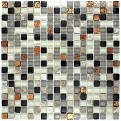 crédence cuisine carrelage cuisine mosaïque verre et pierre verdi