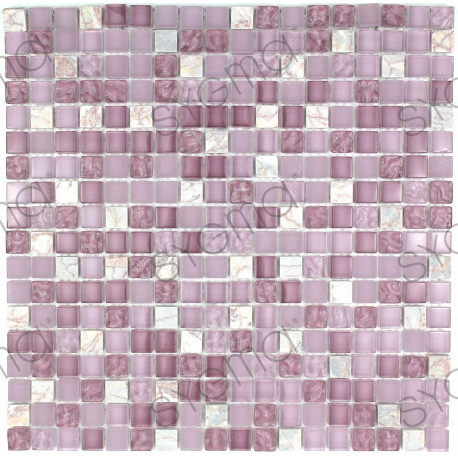 tile mosaic bathroom or shower glass and stone Rossi