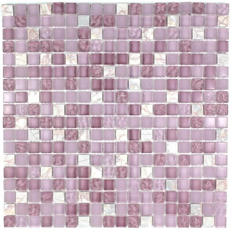 Carrelage salle de bain mosaique verre et pierre mvp for Carrelage pierre salle de bain