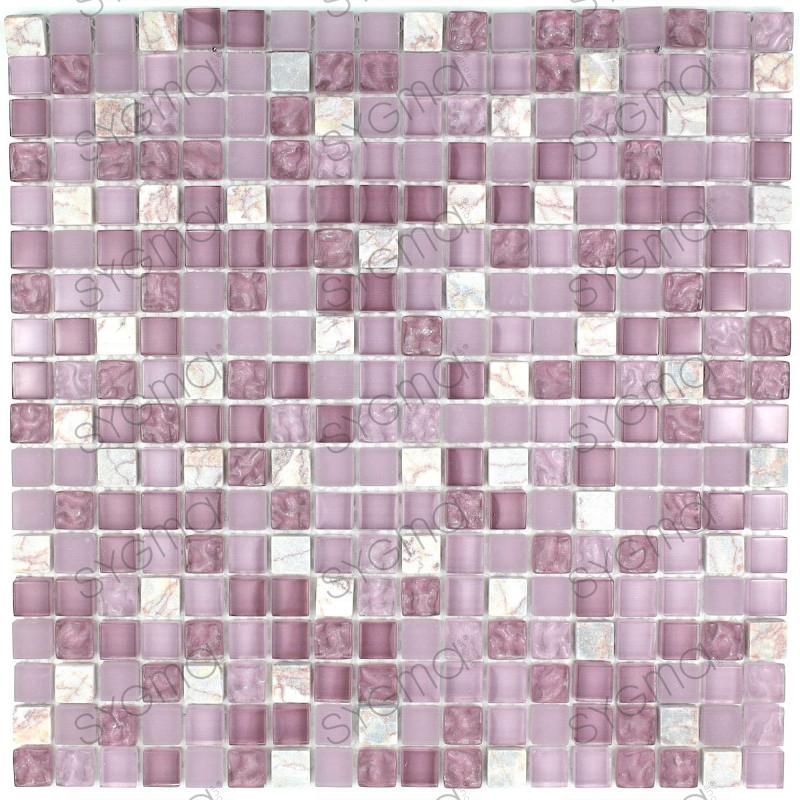 Tile mosaic bathroom or shower glass and stone mvp bolero for Carrelage stone