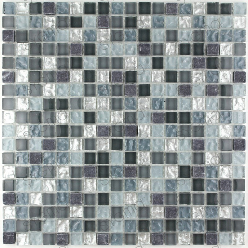 Floor and wall mosaic tile mvp mezzo carrelage for Carrelage inox fr