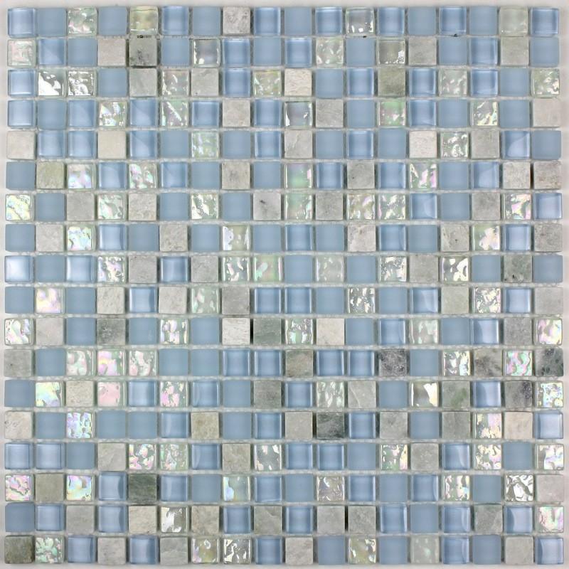 mosaique pour sole et mur douche salle de bain mvp lagon carrelage inoxfr - Salle De Bain Mosaique Douche Italienne