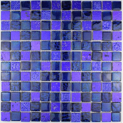 carrelage douche mosaïque douche verre et pierre metallic bleu