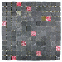 Mosaico en Acero Inoxidable 1 placa modelo RECTANGULAR 98
