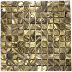 Carrelage mosaique de nacre pour sol et mur nac-marron
