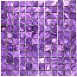 crédence cuisine carrelage douche sol mosaïque douche nacre 23 violet