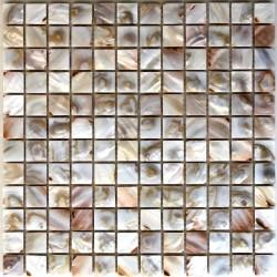 crédence cuisine carrelage douche sol mosaïque douche nacre naturel