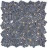 mosaique pierre sol et mur douche et salle de bain lulli noir