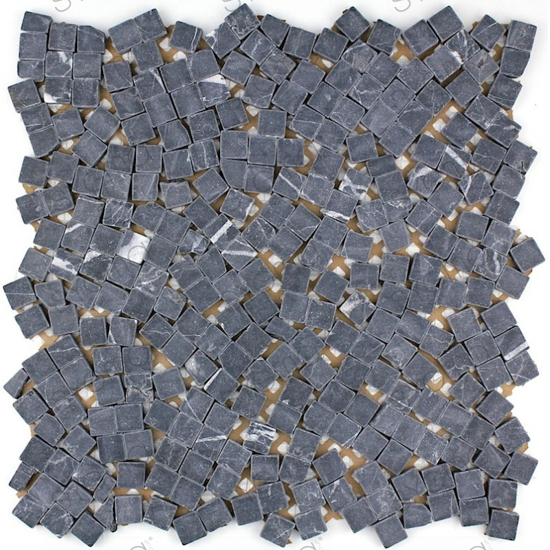 Stone mosaic floor and wall shower and bathroom mp lulli for Carrelage stone