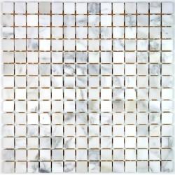 mosaique pierre sol et mur douche et salle de bain opale