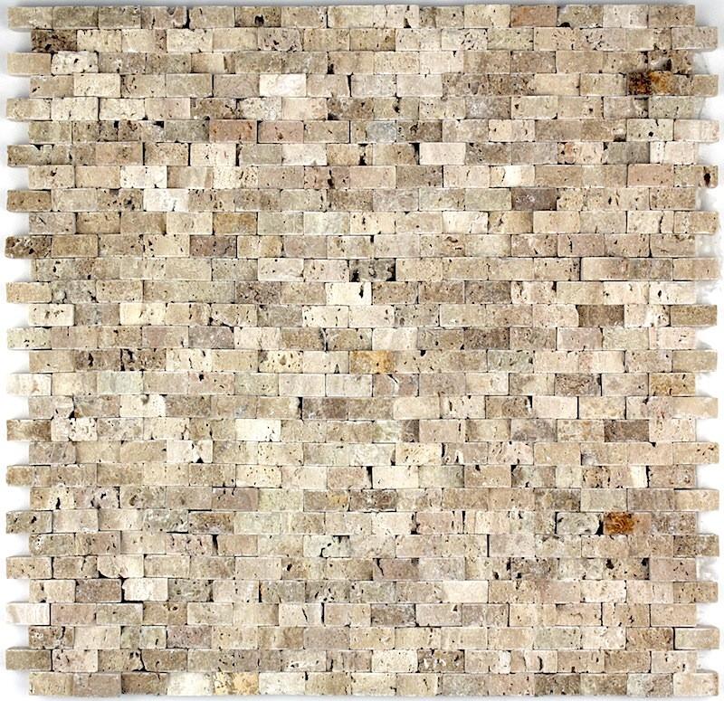 Remarquable mosaique pierre murale douche et salle de bain cinza-beige KX-49