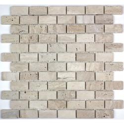 mosaique pierre sol et mur douche et salle de bain salvadore brick