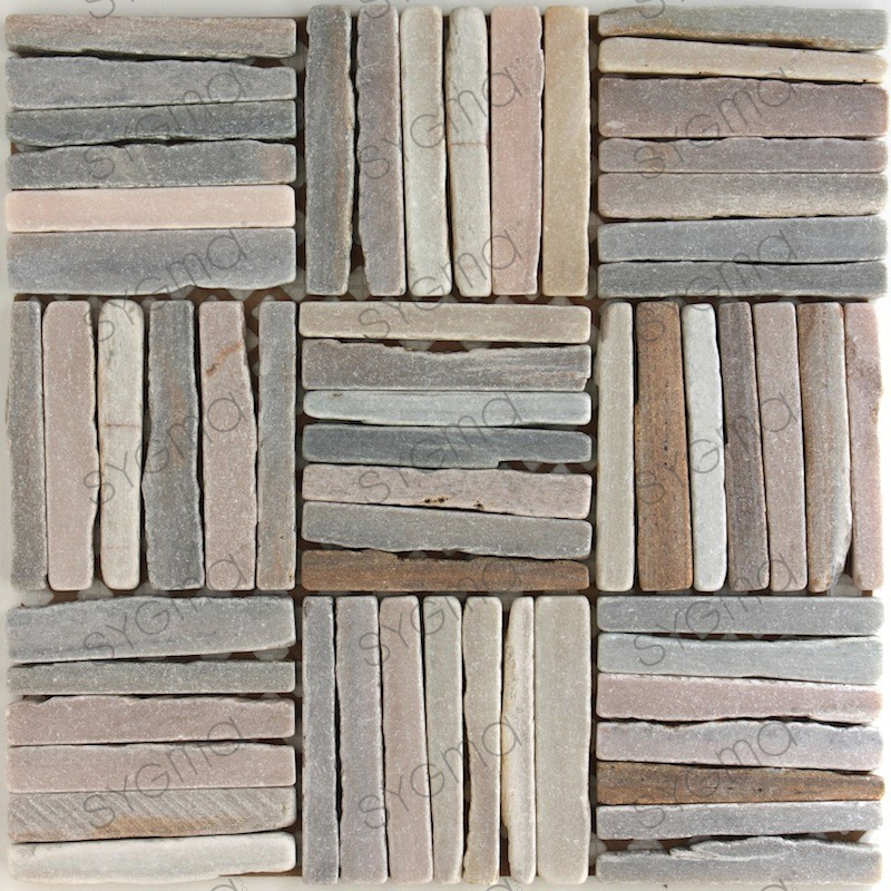 Stone tile mosaic floor shower or bathroom mp cut for Carrelage stone
