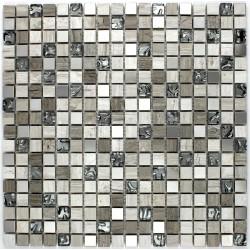 mosaique pierre verre et inox sol et mur douche et salle de bain allegro