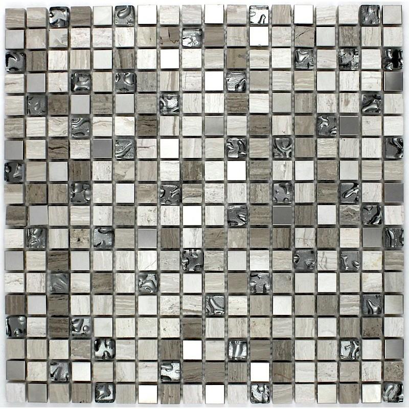 Douche italienne mosaique pierre sol et mur salle de bain allegro - Carrelage sol et mur salle de bain ...