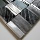 dalle mosaique aluminium et verre carrelage cuisine crédence ceti gris
