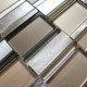 dalle mosaique aluminium et verre carrelage cuisine crédence Albi Marron