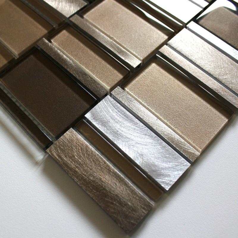 tile mosaic aluminum glass tiles kitchen splashback ceti bro