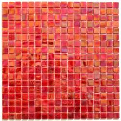 Malla azulejo mosaico de vidrio Imperial Rouge