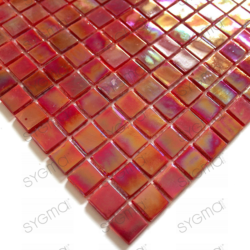 Glass mosaic backsplash tile bathroom rainbow ecar for Mosaica carrelage