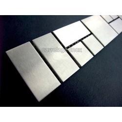 Listel inox frise acier metal mosaique carrelage bordure FOCUS