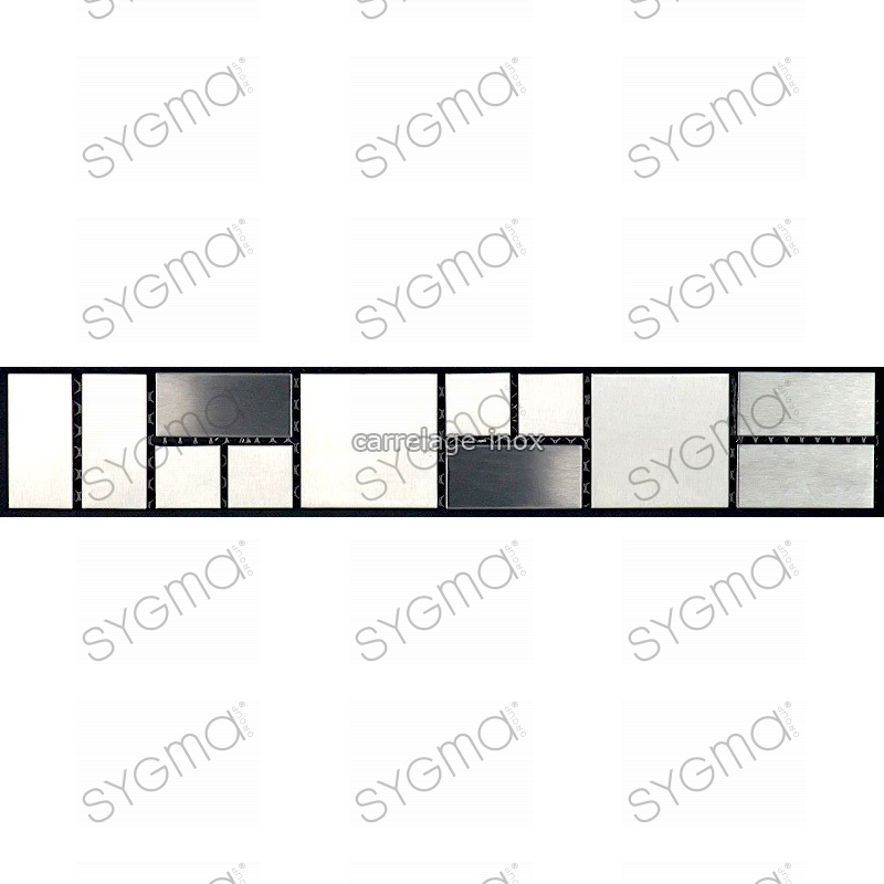 listel inox frise acier metal mosaique carrelage bordure focus. Black Bedroom Furniture Sets. Home Design Ideas