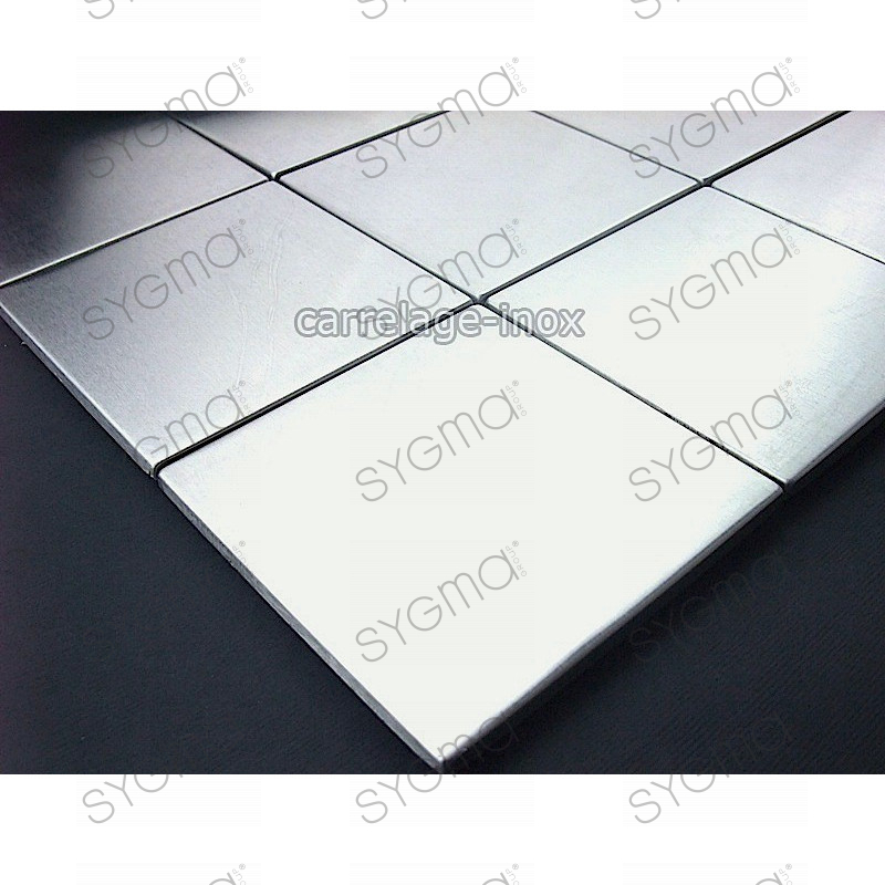 Mosaic stainless steel 1m2 splashback kitchen tiles for Linea carrelage