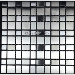 Mosaique inox brossé 1 m2 carrelage faience credence COMPO