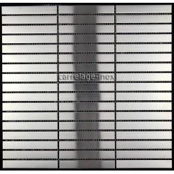 Mosaique et carrelage inox 1 m2 modele LINER 100