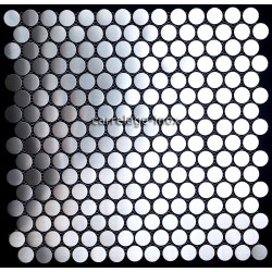 Mosaique inox 1 m2 carrelage faience credence ROUND 20
