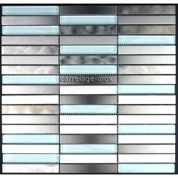 Mosaico en Acero Inoxidable modelo 1M2 MULTI LINER