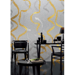 mosaïque pâte de verre surface 3,77m2 art ruban