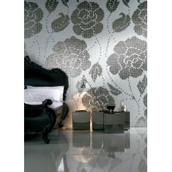 mosaïque pâte de verre surface 0,96 m2 art rose