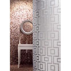 mosaïque douche pâte de verre salle de bain art hermes