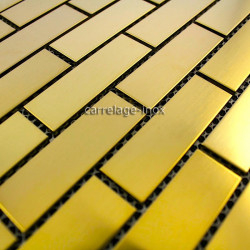 mosaique inox de couleur modèle 1m-brique64gold