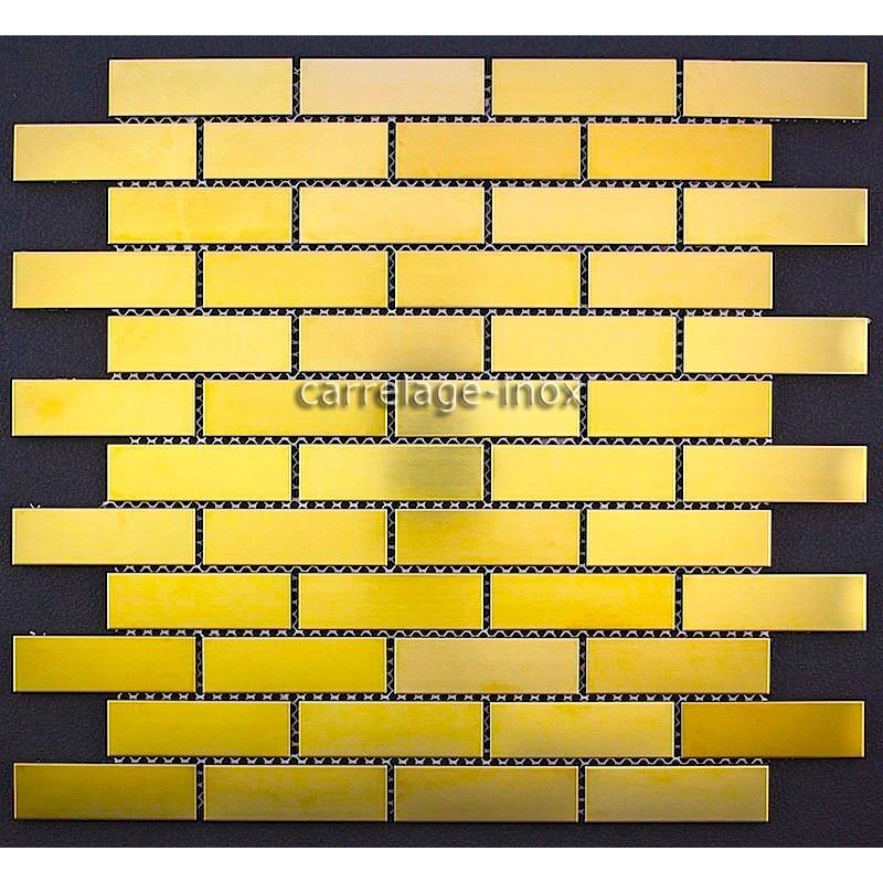 Mosaique inox de couleur mod le 1m brique64gold for Carrelage 1m 1m