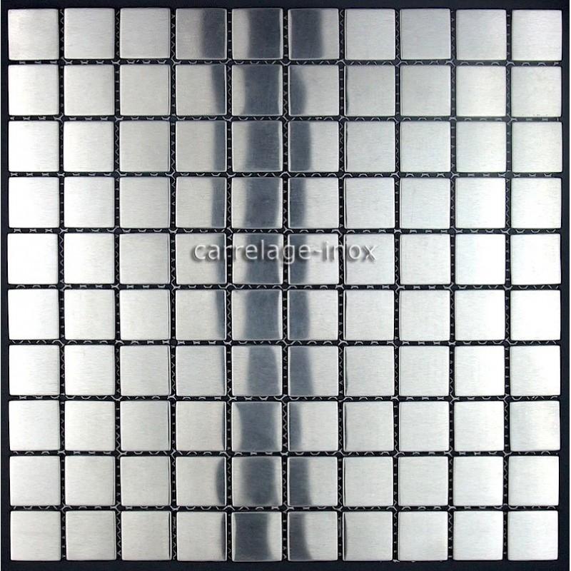 Mosaique inox sol et mur mod le 1m regular30 carrelage for Inox mur cuisine