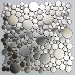 plaque mosaique sol et mur de douche en inox modele loop