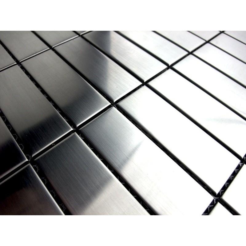 Echantillon mosaique inox rectangular74 carrelage - Mosaique inox ...