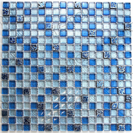 mosaique bleu en verre et pierre mp eaton carrelage. Black Bedroom Furniture Sets. Home Design Ideas