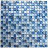 Mosaic blue glass and stone Dimas