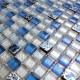 Mosaique bleu en verre et pierre EATON