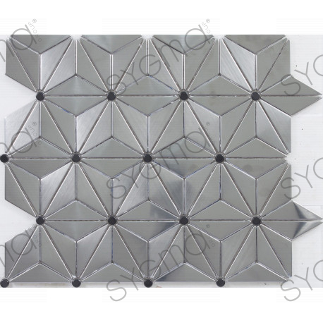 echantillon mosaique inox credence cuisine loka. Black Bedroom Furniture Sets. Home Design Ideas