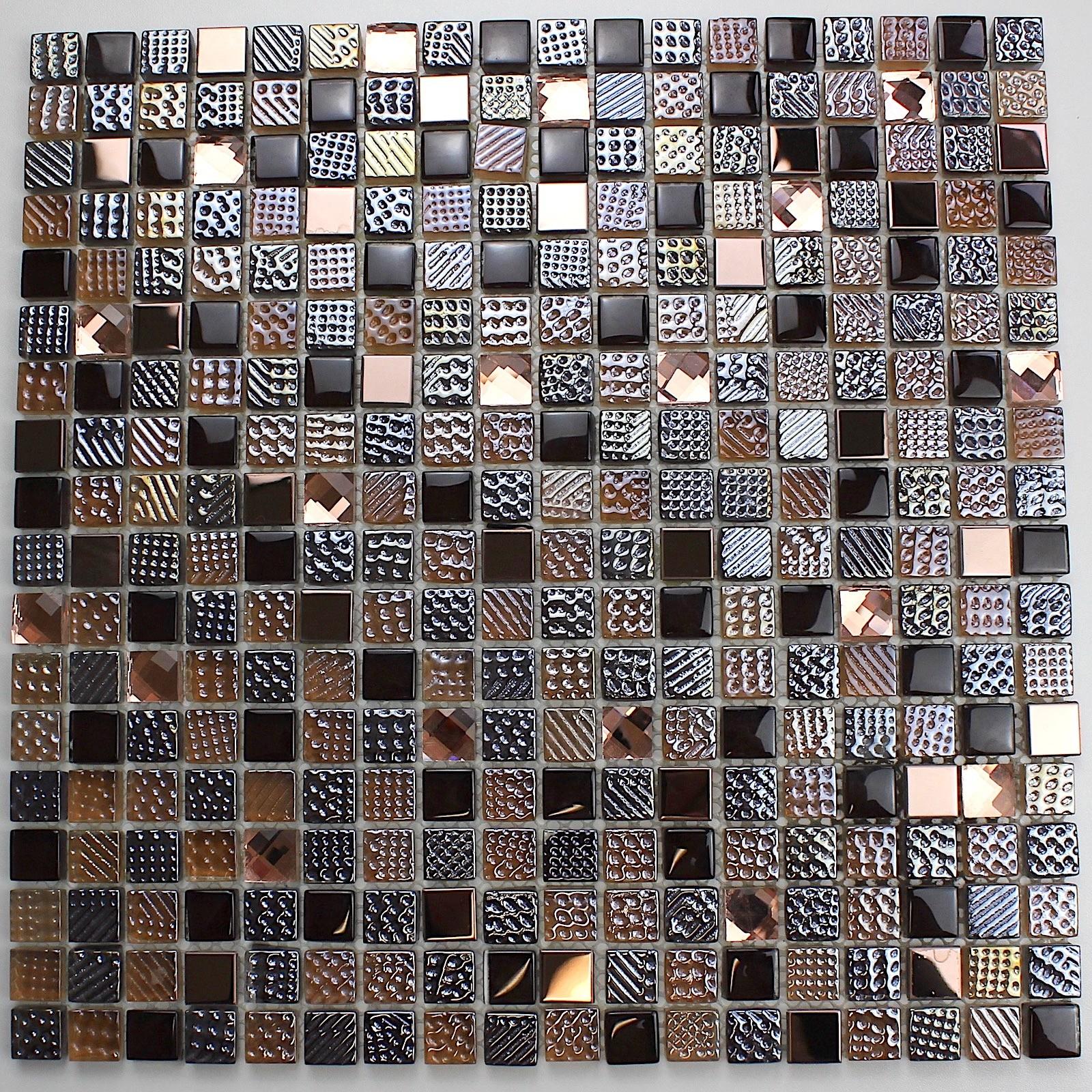 Mosaique Pour Credence Cuisine mosaique de verre pour sol et mur mv-inesse - carrelage-inox.fr